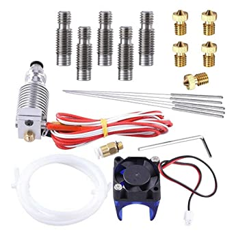 Metal J-Head V6 Extrusora,MYSWEETY Todo el metal Kit J-Head Hotend ...