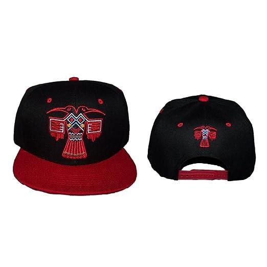 be64c0a37f Native Pride Embroidered Baseball Caps Hats Flat Brim Aztec Bird (CapNp641  Z)
