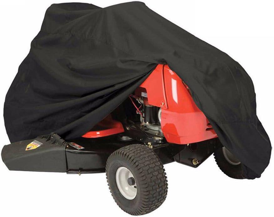 COMOTS Funda para cortacésped de Exterior, 170 x 110 x 110 cm, Impermeable y antiUV, Material PE, para Tractor de césped con Bolsa de Almacenamiento