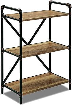 Bjia Repisa de cocina Estante para horno de microondas de 3 capas, estante para ollas, soporte de almacenamiento de forma de tubo de agua de hierro forjado: Amazon.es: Bricolaje y herramientas