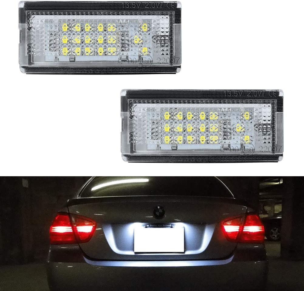 21pcs White Car LED Light Interior Dome Lights Bulbs Kit for BMW E46 Sedan M3 19