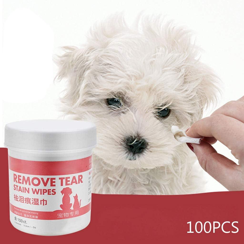 Youlin - Toallitas húmedas para Perros y Gatos, limpiadores y Suministros de Aseo para Mascotas