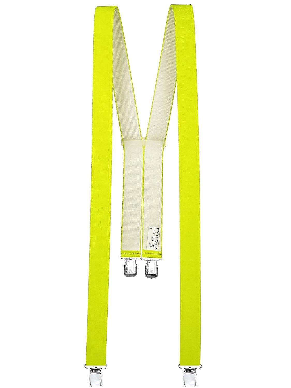 Xeira  Bretelles de haute qualité pour Femmes/Hommes avec 4 XL CLIPS extra fort 35mm de large en 10 couleur design differentes - Fabriqué en Allemagne