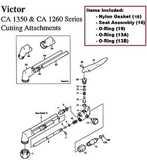 Amazon.com: Harris Model 72-3 & 72-3A Cutting Torch Rebuild/Repair ...