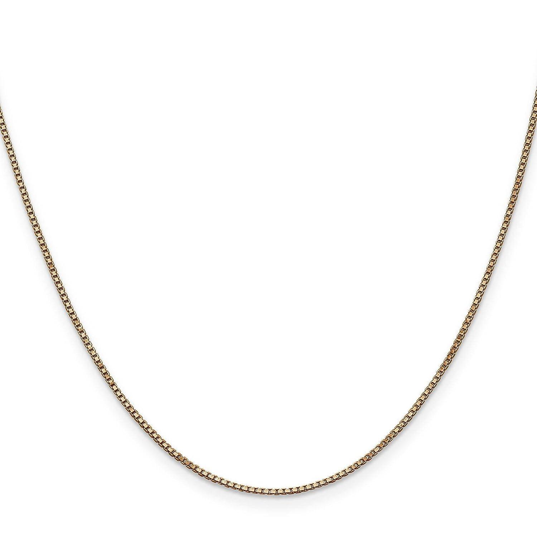 14k Rose Gold 1.0mm Box Link Chain Necklace Bracelet 7-30