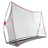 Asatr Professional Portable Golf Practice Training Net with Bow Frame and Carrying Bag(10 X 7ft, US STOCK)