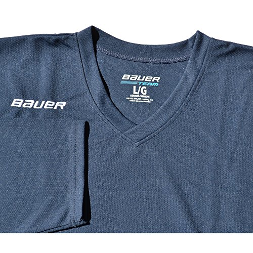 Adult Hockey Jersey (Bauer 200 Series Practice Jersey - Senior (Navy, Large))