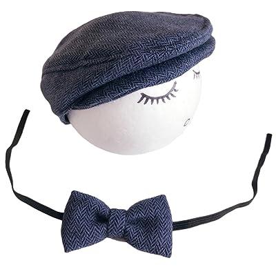 85cf3a21bc0 Casquette Cravate pour Bébé Garcon Fille Baseball Bonnet Beret Chapeau  ensemble Photo Bébé Accessories Prop Photographie