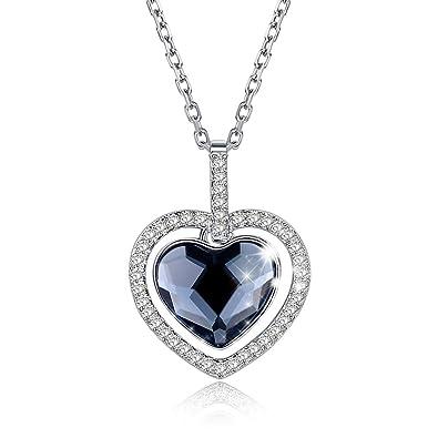 ❤Emballage cadeau❤ Cristaux de Swarovski, coeur de l océan collier titanic  collier f4295dd11fa9