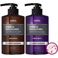 KUNDAL Honey & Macadamia Pure Natural Shampoo & Conditioner Set - Cherry Blossom