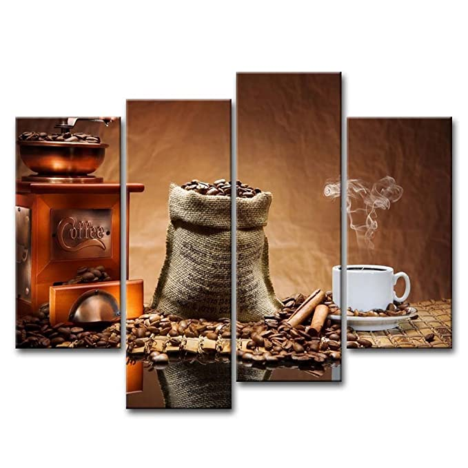 Coffee Bean Panel Canvas
