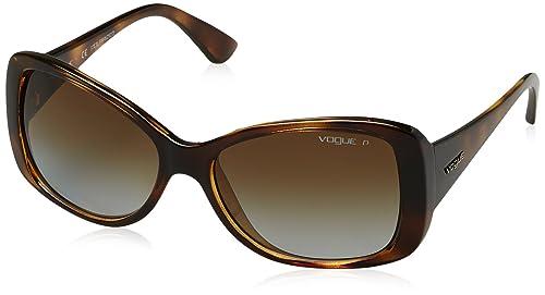 Vogue 0Vo2843S, Gafas de Sol para Mujer, Dark Havana, 56