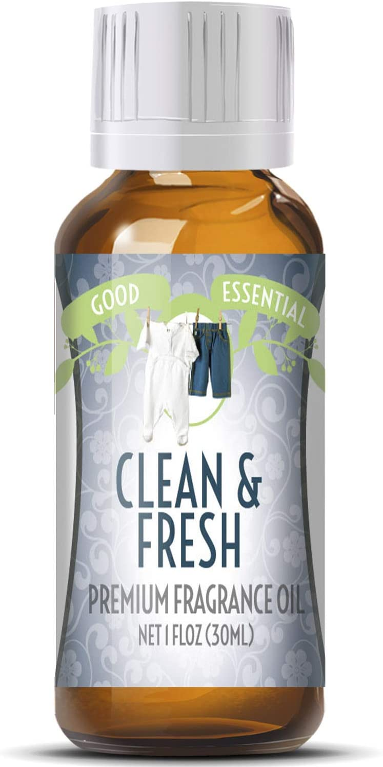 Clean & Fresh Scented Oil by Good Essential (Huge 1oz Bottle - Premium Grade Fragrance Oil) - Perfect for Aromatherapy, Soaps, Candles, Slime, Lotions, and More!