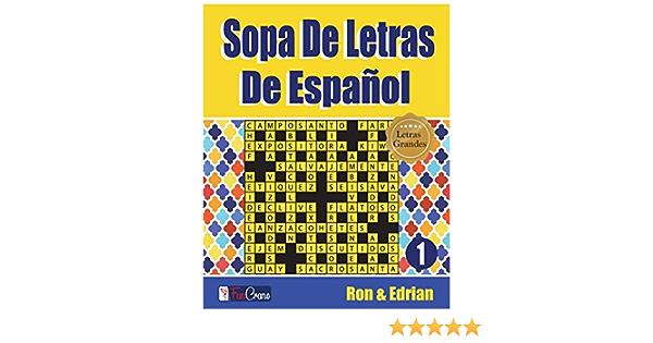 Sopa De Letras De Español: 1 (volumen): Amazon.es: K, Ron, D ...