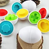 6 Pack Matching Shapes And Colors Eggs Toys For