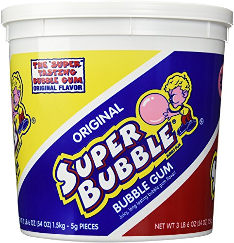 Farley's & Sathers Super Bubble Bucket Original, 300 Count Nostalgic Gum