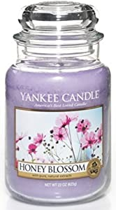 Yankee Candle Honey Blossom Large Jar Candle, Floral Scent