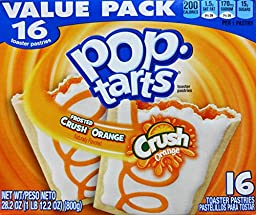 Frosted Orange Crush Pop Tarts Toaster Pastries, 16 Count, 28.2 Oz (800g)