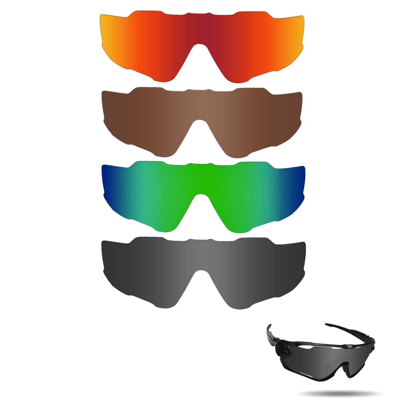 Fiskr Polarized Replacement Lenses for Oakley Jawbreaker Sunglasses 4 Pairs