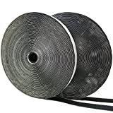Eroilor Double-Sided Adhesive Hook and Loop Tape, 24 Meters Extra Strong Adhesion Self-Adhesive Loop & Hook Tape Over 10,000 Time Adhesive DIY Band - Black