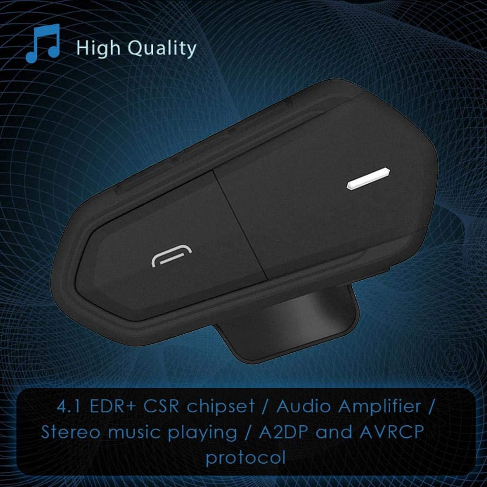 Amp Chip Wireless Bluetooth Earphone Stable Screws Fix Motorcycle Intercom Helmet Headsets with 450mAh Battery Black Helmet Headphone