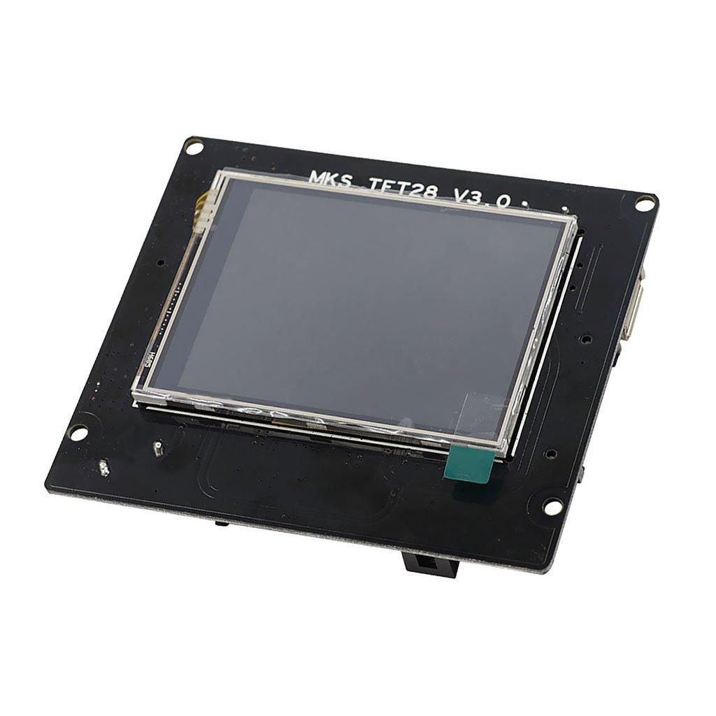 Sharplace Panneau de Contrôleur D'écran Tactile Compatible avec Firmwares Marlin/Smoothieware/Repetier, Plug and Play Open Source - Noir v3.0