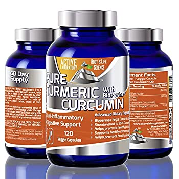 #1 Best Organic Turmeric Curcumin with Bioperine 95% curcumonoides , 1000mg Daily Serving 120 Day Supply Standardized to 95% Curcumin Super Absorption for Maximum Effect 100% Guaranteed By Active Labs