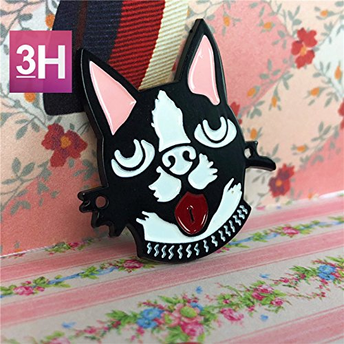3 colored buttons dog's head of foreign trade clothing bags hand-stitched decorative hat handmade DIY accessories OEM SMD for DIY Art Sewing Sew Tailor Clothing Craft Dog Clothing Buttons