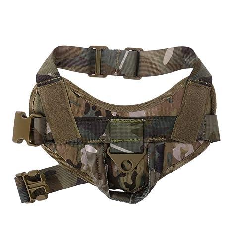 XMTPF Arnés de Nailon para Mascota, Ajustable, para Perro, Militar ...