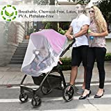 Jolik Mosquito Net for Stroller, Carriers, Car Seats, Cradles, Universal Size, High-Density Stroller Mosquito Net to Prevent The Infection by Mosquito Viruses