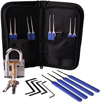 Lock Pack herramientas para regalo 17 piezas (incluyendo Blue Lock ...