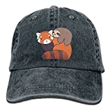 Little Sloth and Red Panda Adult Perfect Cowboy Cap Navy