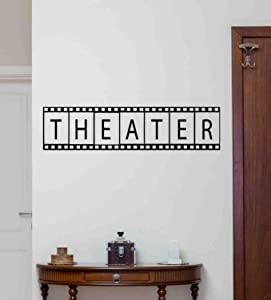 Kellysdesigns Theater Wall Decal Film Strip Wall Decal Theater Vinyl Sticker Cinema Quote Home Theater Poster Theater Sign Film Gifts Movie Wall Decor Theater Wall Art Theater Mural 1079