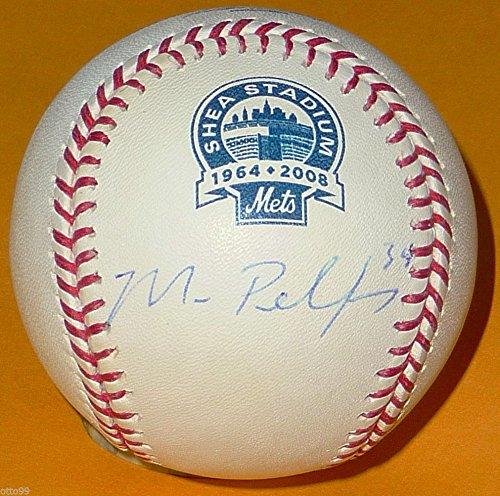 (MIKE PELFREY SIGNED 2008 SHEA STADIUM FINAL SEASON BASEBALL NEW YORK METS NY)