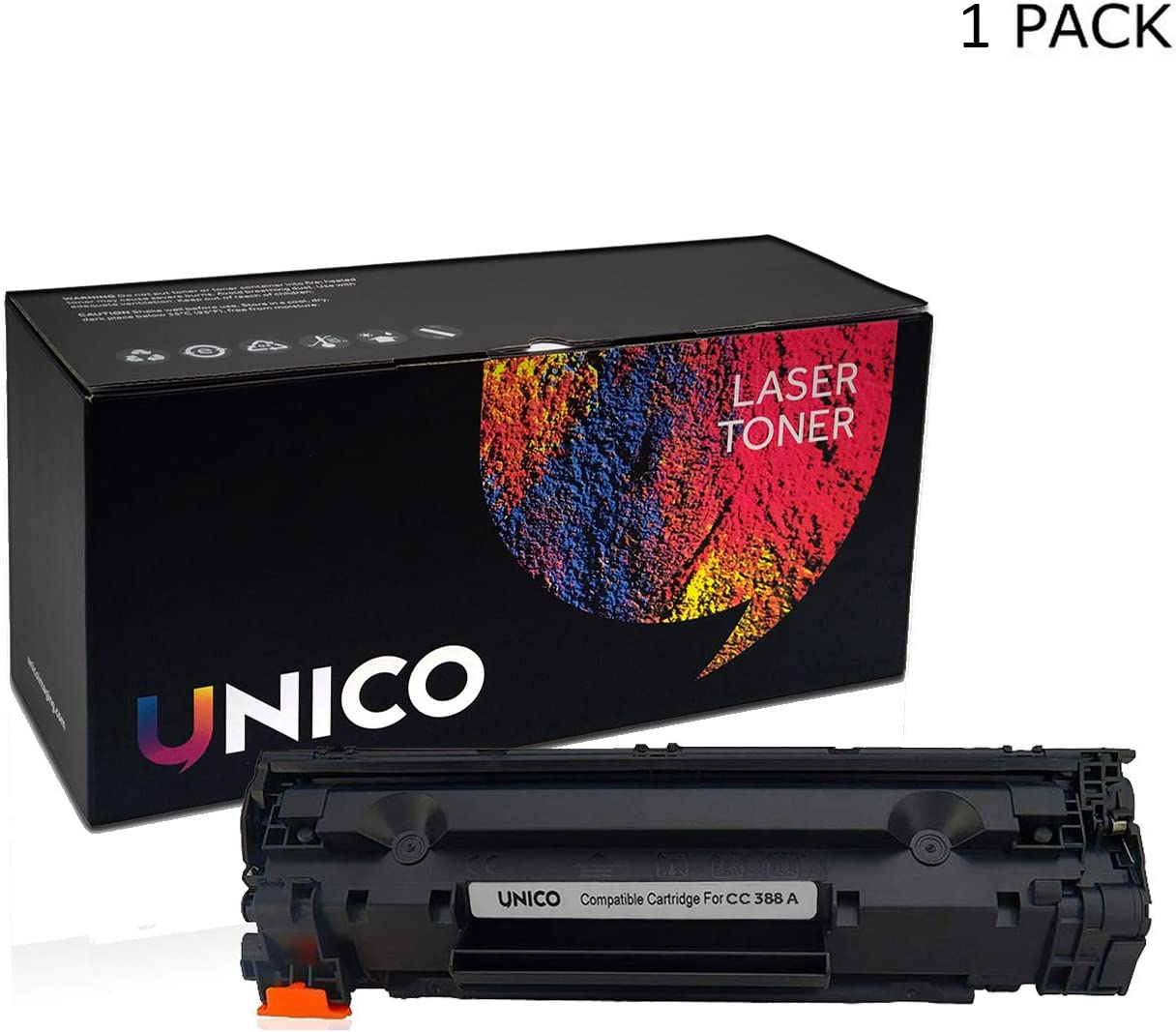 UNICO 88A (C388A) Compatible Toner Cartridge Replacement for HP P1007 1008 M1136 M1213NF M1216NFH (1Pack)