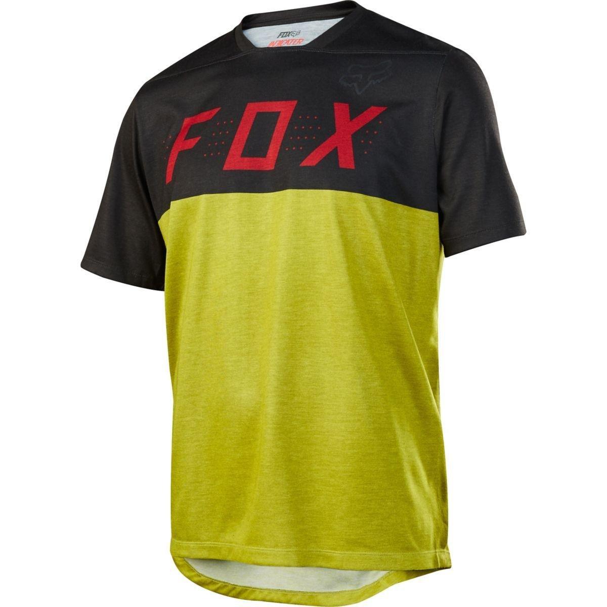Fox Trail-Jersey Kurzarm Indicator Schwarz Gelb