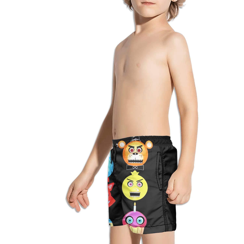 kattyy1 Kids Stripe Adjustable Quick Dry Swim Shorts