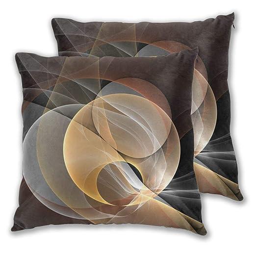 MrRui - Funda de cojín de algodón, diseño Abstracto, Color ...