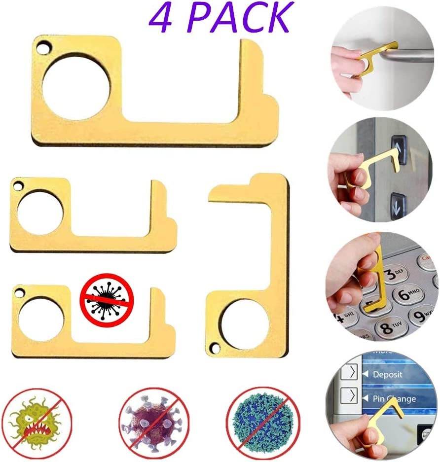 Portable Stick for Push The Elevator Button No-Touch Door Opener and Closer Stylus Keep Hands Clean Personalized Keychain 2 Pack