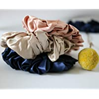 100% Silk Scrunchies – Mixed Pack, Large or Small (Large - 3 Pack)