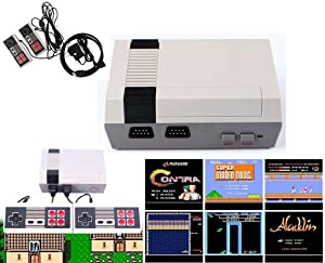 Classic Game Console Built-in 621 Game in TF Card, with 2 Joysticks, Video Game Console, Handheld Game Player Console for Family TV HDMI HD us35