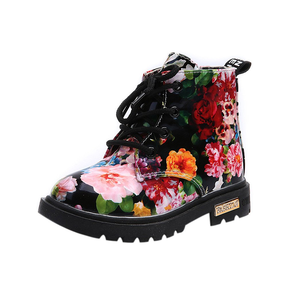 Lurryly Baby Kids Girls Martin Boots,Fashion Floral Shoes Children Boots 1-6 T by Lurryly (Image #1)