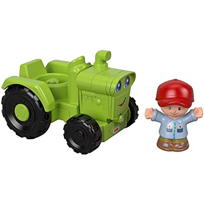 Fisher-Price Little People Helpful Harvester Tractor: Toys & Games