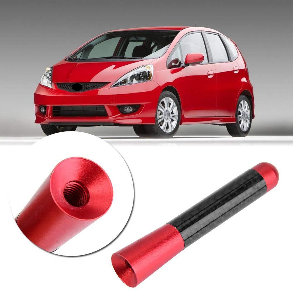Antenne de rechange pour voiture argent antenne courte radio dantenne radio de vis de fibre de carbone de 3pour la modification universelle de voiture