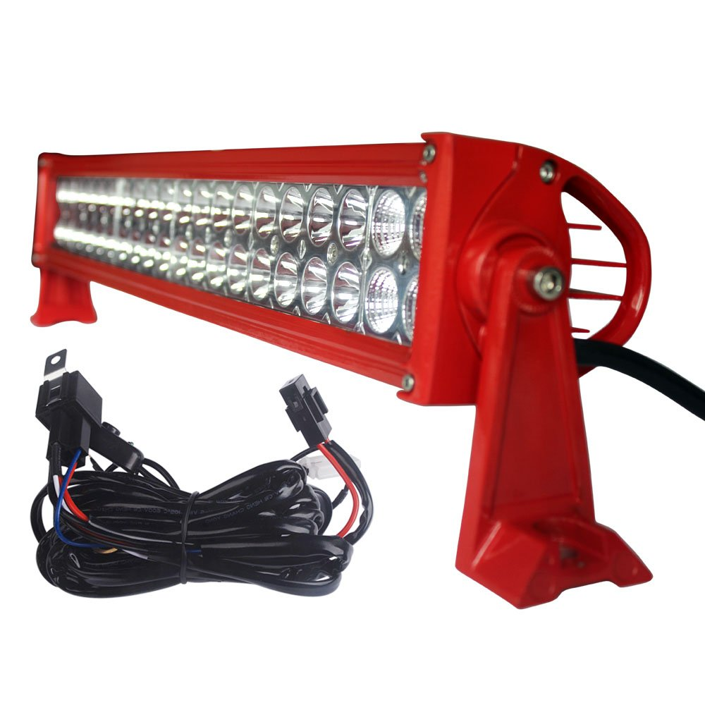 Led Light Bar Yitamotor 2pcs 24 Inch Spot Flood Combo Utv Wiring Harness Offroad Driving Lights With