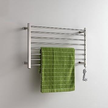 304 Acero Inoxidable eléctrico montado en la Pared Toalla Calentador de baño calefacción toallero: Amazon.es: Hogar