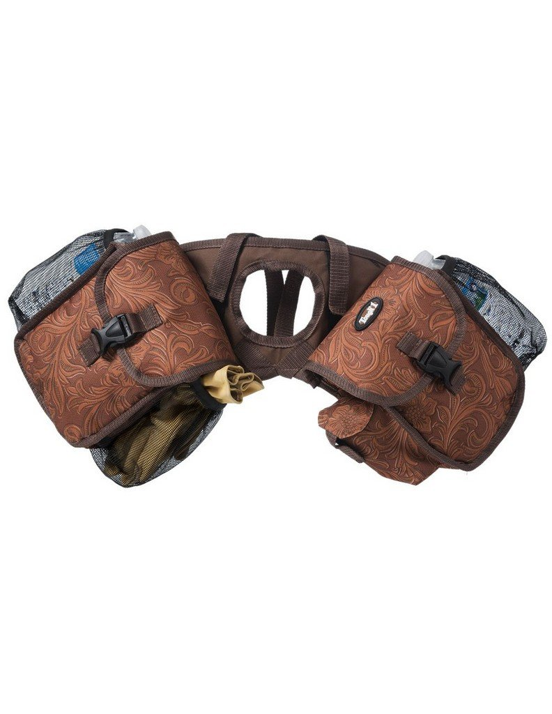 tough-1ホーンバッグInsulatedロックバックルボトルホルダー61 – 7794 One Size Tooled Leather Brown B075PQ2G6P