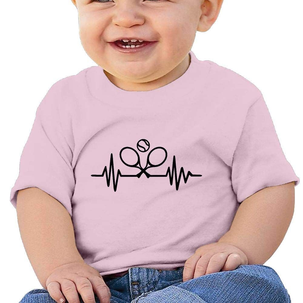 Heartbeat Tennis 6-24 Months Baby Boys Girls Unisex Summertime T-Shirt