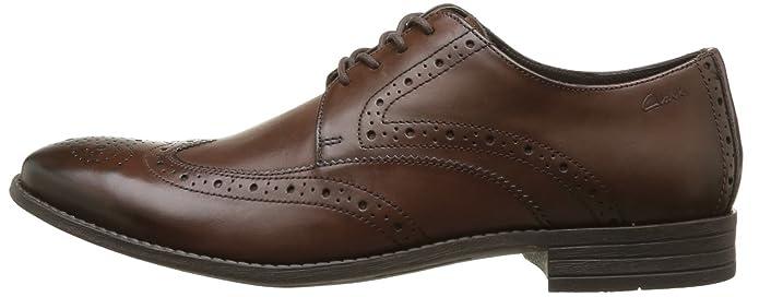 Clarks Chart Limit 203586257 - Zapatos de cuero para hombre, color marrón, talla 44