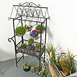 Large Black Metal Freestanding Scrollwork French